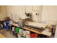 Bakery equipment. Hunt table top dough brake.