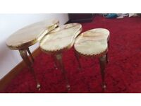 Nest of 3 Marble Topped Tables