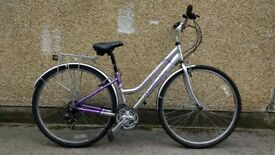 """Ladies Claud Butler hybrid bike 15"""" city bicycle good for town and hills"""