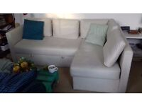 Ikea 'Fagelbo' 3 seater couch with pull out sofa bed and storage