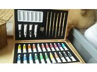 NEW Acrylic paint case with stationery