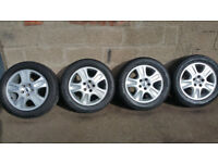 Ford Genuine 16 alloy wheels + 4 x tyres 205 55 16