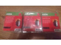 BRAND NEW IN SEALED PACKETS CANON PGI-5 BK INK CARTRIDGES X 3 £15