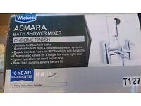Asmara bath and shower chrome mixer