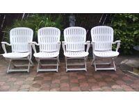 Allibert garden chairs x 4
