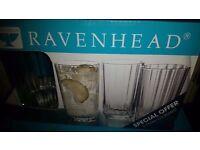 Ravenhead Glasses Six Pack - New in Packing