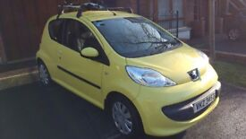 Peugeot 107 1.0 12v Urban Yellow 2008 59MPG and TAX£20
