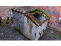 Old Concrete Coal Bunker FREE to whoever can collect