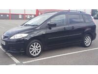 Mazda 5, 2009 Diesel 1.9 , Manual,black, 7 seats ,HPI clear,AC,long MOT,Only 57000 miles