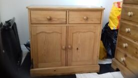 Pine Cupboard, 2 Drawers over 2 cupboards.