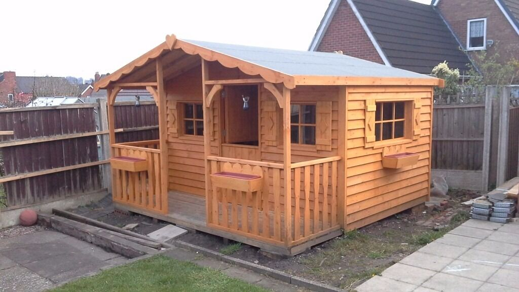 Garden shed workshop man cave play house summer house for Build your own barn house