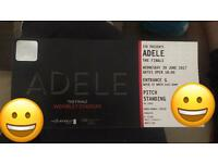 2 Standing tickets Adele Wednesday 28th June