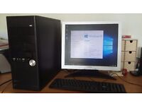 "DualCore PC with 320gb HD, 2gb mem, 17"" LCD monitor, Windows 10 Pro new install..."