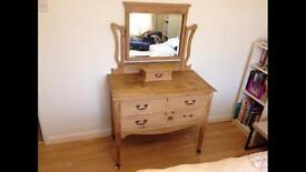 Victorian vintage pine light wood dresser