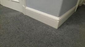 Used Carpet w. underlay - Grey - 3 pieces