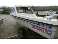 Sea hog hunter fishing boat