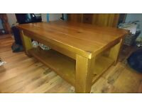 Next Pine furniture. TV Unit. Coffee Table & Nest of Tables