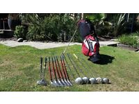 Maxfli Graphite shafted golf club set with new bag
