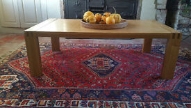 Large, solid oak coffee table