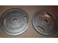 Two plates, 25Kg each