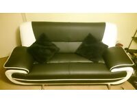 2 and 3 seat leather sofas almost new