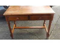soild pine desk/dressing table