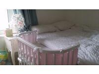 Babybay bedside cot cosleeper very good condition