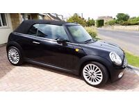 MINI COOPER 1.6 CONVERTIBLE, BLACK, SEPT 09, 50,000 MILES, SUPER CONDITION, CAREFUL LADY OWNER