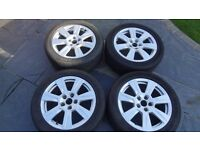 """Genuine Full set Audi A6 alloys and tyres 17"""" Off a 2010 model"""