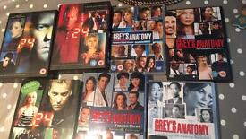 Greys Anatomy and 24 DVDs