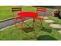 """John Lewis Soho Bistro Garden Set - """"House Red"""""""