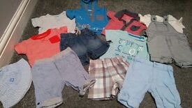 Baby boy summer clothes bundle