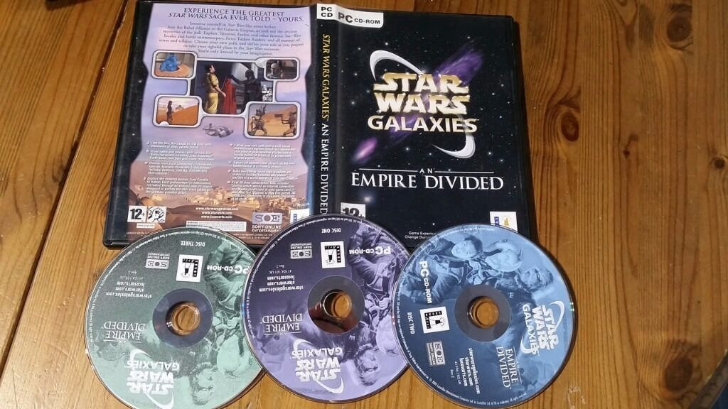 Star Wars Galaxies An Empire Divided Good condition and complete in the box
