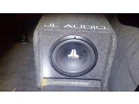 "JL Audio CP112W0-4 12"" 300W RMS Sub in Box"