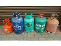Patio gas / propane gas bottles etc etc job lot of bottles