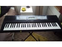 yamaha psr e213 keyboard every thing works good codition plus adapter stand if required