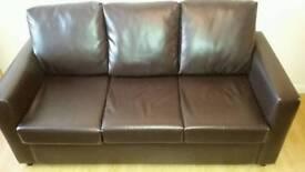 Sofa leather 3 places