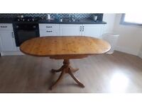 Farmhouse Pine Table Drop Leaf (NO CHAIRS TABLE ONLY)