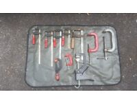 10 x assorted sizes Carpentry G clamps