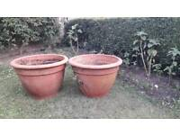 Large pots two foot six round by same height nice and weathered
