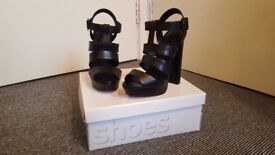 Topshop Women's Black Lucy Gladiator Sandals size 5 brand new