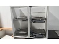 Kitchen carousel corner cupboard pull outs