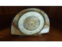 Retro Marbled Analogue Clock in Good Condition