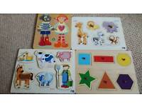 great set of expensive wooden jigsaws from elc