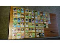 Rare out of print Pokemon cards - Complete Team Rocket set including secret holo Raichu 83/82