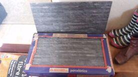 Slate effect porcelin tiles