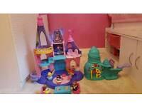 Little people disney castle and ariel palace