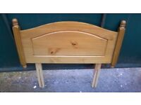 Lovely solid pine single bed headboard