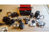 Film camera - Miranda / Chinon / Kodak and Digital camera Sony Cyber-shot DSCS750