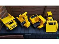 4 large jcb toys immaculate condition